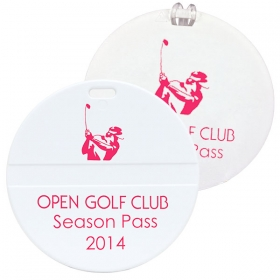 Promotional products: Round golf bag tag