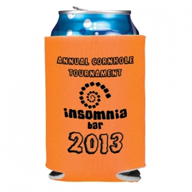 Promotional products: Folding foam can cooler 1 side imprint
