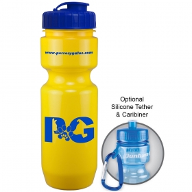 Promotional products: 22 oz bike bottle (flip top lid)