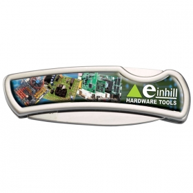 Promotional products: Stainless Steel Lock Knife With Domed Imprint
