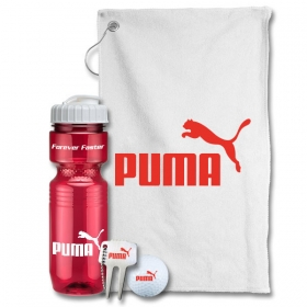 Promotional products: Jogger Bottle Golf Gift Set