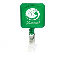 Promotional products: Square pad printed retractable badge holder with slide on clip
