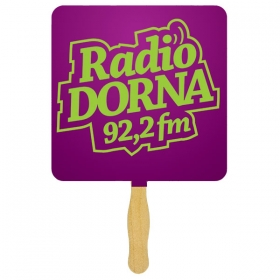 Promotional products: Standard hand fan one sided spot color imprint