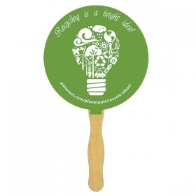 Promotional products: Standard hand fan one sided one spot color imprint