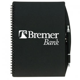 Promotional products: 4 X 6 70 Sheet Board Journal With Pen