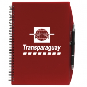 Promotional products: 4 X 6 70 Sheet Poly Journal With Pen