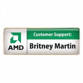 Promotional products: Rectangle name badge (magnet bar)