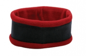Promotional products: Acrylic knit head band w/ contrast polar fleecetrimming
