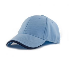 Promotional products: Polyester dobby knit strectchable fitted cap / wave sandwich peak
