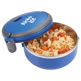 Promotional products: Round Insulated Lunch Box Food Container
