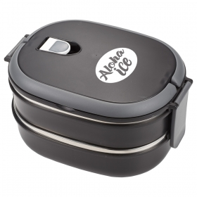 Promotional products: Two Tier Insulated Oval Lunch Box Food Container