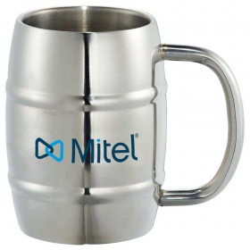 Promotional products: Growl Stainless Barrel Mug 14oz