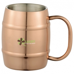 Promotional products: Moscow Mule Barrel Mug 14oz