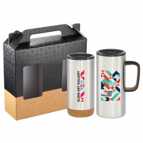 Promotional products: Valhalla Copper Vacuum Gift Set With Cork