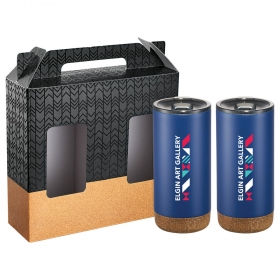 Promotional products: Valhalla Copper Vacuum Tumbler Gift Set With Cork
