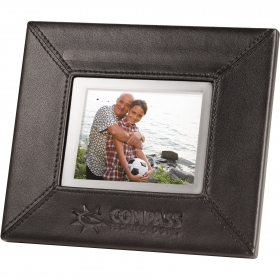 """Promotional products: 3.5"""" Leather Digital Photo Frame"""