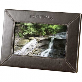 """Promotional products: 7"""" Leather Digital Photo Frame - 1GB"""