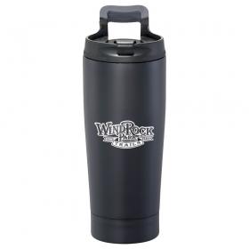 Promotional products: High Sierra(r) Blackout Vacuum Tumbler 17oz
