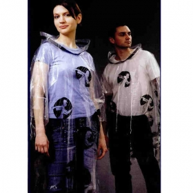 Promotional products: 2 color - middleweight, durable rain poncho