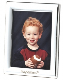 "Promotional products: Polished chrome 5"" x 7"" picture frame"
