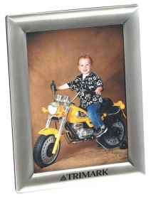 "Promotional products: Antique silver 5"" x 7"" picture frame"