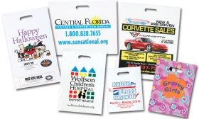 Promotional products: Biodegradable plastic grab bags