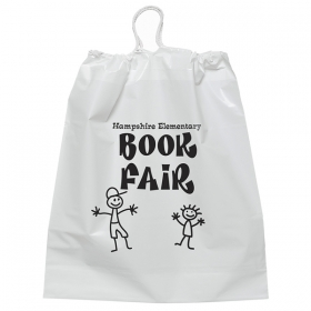 "Promotional products: Cotton Cord Drawstring Plastic Bag (16""x18""x3"")"