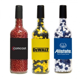 Promotional products: Candy filled wine bottle