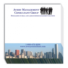 """Promotional products: 3"""" x 3"""" sticky pads"""