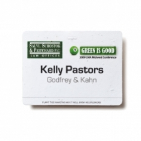 Promotional products: Seed paper name badge