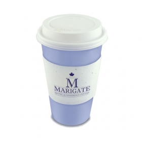Promotional products: Single-sided seed paper coffee cup sleeve