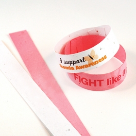 Promotional products: Single sided seed paper wristbands slim