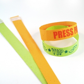 Promotional products: Single Sided Seed Paper Wristbands Long