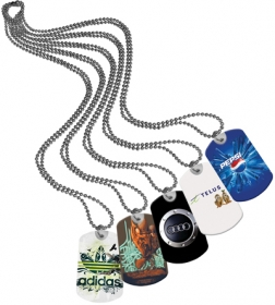 Promotional products: Dog tagz (4-color process) metal