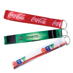 Promotional products: Digi dyed wrist lanyards / wrist fobs