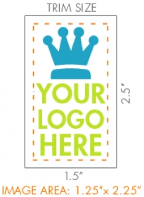 "Promotional products: 1.5"" X 2.0"" Custom Temporary Tattoo"