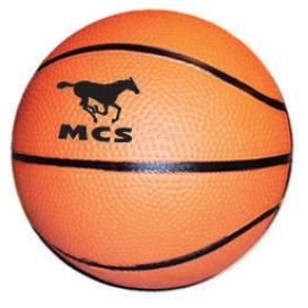 "Promotional products: 6"" rubber basketball"