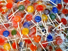 Promotional products: Basic color and flavor custom imprinted lollipops