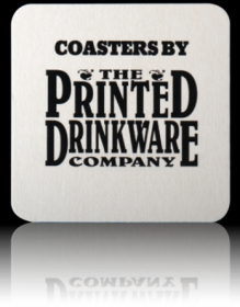 "Promotional products: 40pt 4"" Square Coasters"