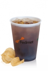 Promotional products: 12 oz frosted, soft sided - Frosted Plastic Cups