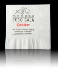 "Promotional products: 3 PLY LUNCHEON - 6 1/2"" x 6 1/2"" -  Napkins"