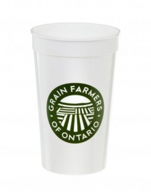 Promotional products: 22 oz. / White/Stadium - Reusable Plastic Cups