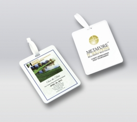 Promotional products: Rectangle Golf Bag Tag