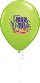 "Promotional products: 12"" round biodegradable latex balloons (2 color print)"