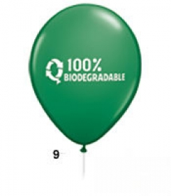 "Promotional products: 10"" round biodegradable latex balloons"