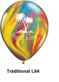 "Promotional products: 11"" SuperAgate biodegradable latex balloons"
