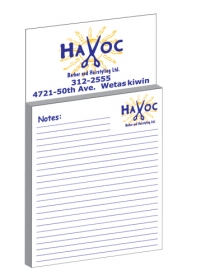 Promotional products: Custom : magnet with custom 25 page memo pad/to-do list