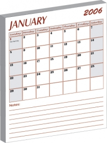 Promotional products: Stock : magnet with stock 12 page calendar