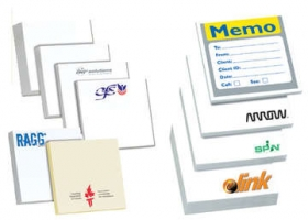"""Promotional products: 3"""" x 3"""" sticky notes"""