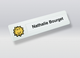 Promotional products: Slimline Personalized Badge